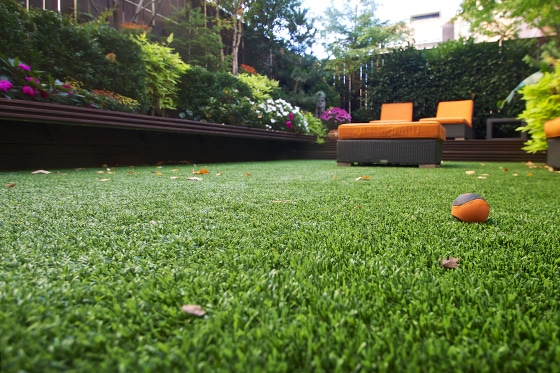 image of new york roof deck with fake grass