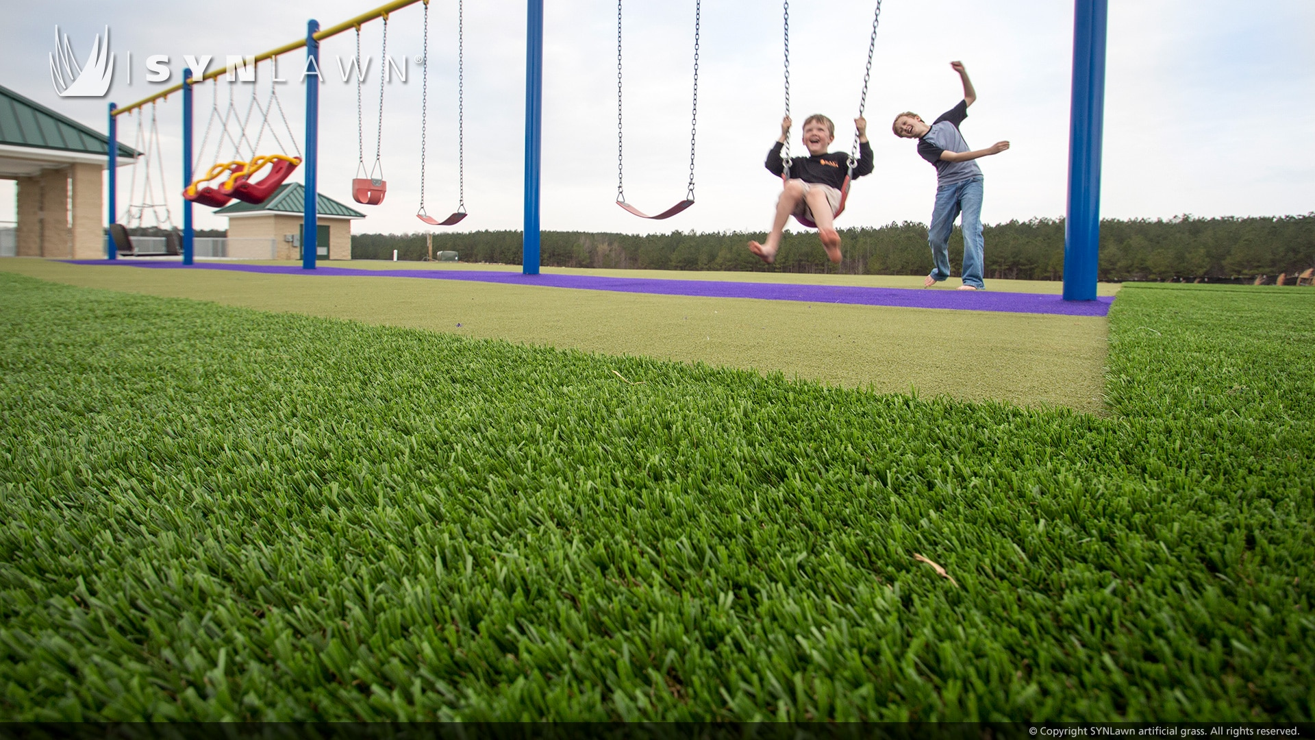 image of synlawn playground turf at peeples memorial play park