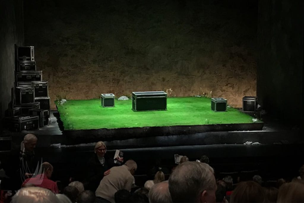 image of synlawn artificial grass used in theater production