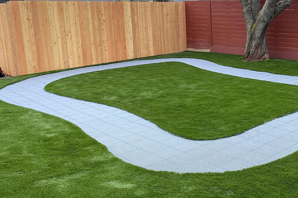 image of pre school bike track using SYNCourt multi sport tile court system